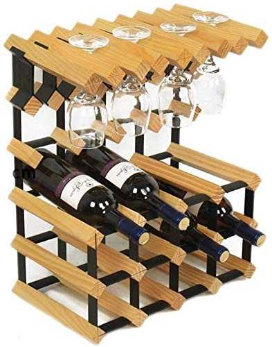 TUHFG Estante de vino de madera para el hogar | Estante para copas de vino | 12 portavasos de 41,7 x 23,5 x 51,2 cm A+ (color: A)