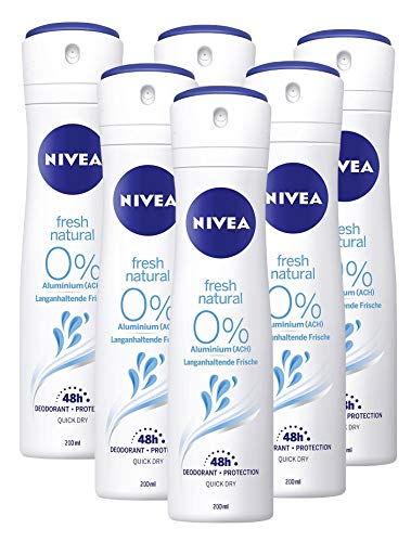 Nivea Deo Spray Fresh Natural, 6er pack (6 x 200 ml)