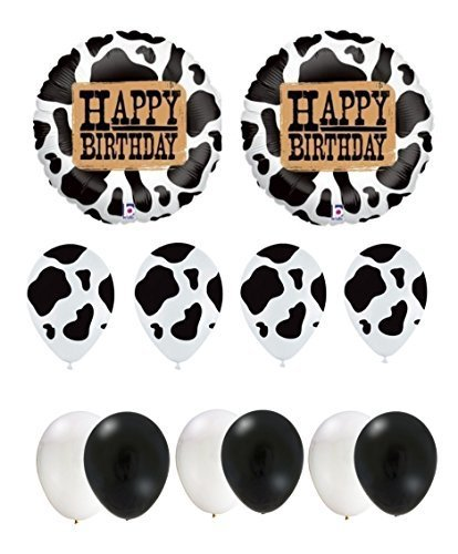 Happy Birthday Cow Party Balloon Set by Cows