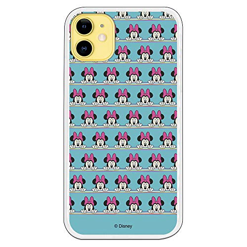 Funda para iPhone 11 Oficial de Clásicos Disney Minnie Sweet Blue para Proteger tu móvil. Carcasa para Apple de Silicona Flexible con Licencia...
