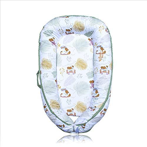 Krunan Premium Baby Lounger Baby Nest. Newborn, Infant Sleeper. Ultra Soft, Breathable Cotton Snuggle Nest, Portable Pillow Sleep Bed, Bassinet, Floor Bouncer, Mini Crib For Co-Sleeping, Travel & Home