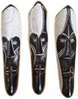 NOVARENA 1-3 Pc African Art Cameroon Gabon Fang Wall Masks and Sculptures - Africa Home Mask Decor