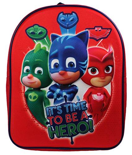 P J Masks Backpack Mochila infantil, 32 cm, 83 liters, Rojo (Red)