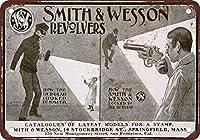 ノベルティサインギフトインチ、1900スミス&ウェッソンリボルバーメタルポスタープラーク警告サイン鉄絵画アート装飾バーカフェガーデンベッドルームオフィスホテル