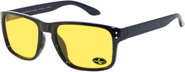 Rainbow Safety - Gafas de visión nocturna polarizadas, para hombre