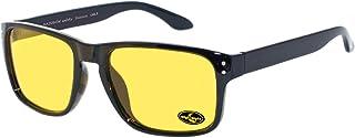 rainbow safety Auto Brille Nachtsichtbrille Nachtfahrbrille Kontrastbrille Blaulicht Schutz Blendschutz Polarisierte Gläser RWN1PBLK