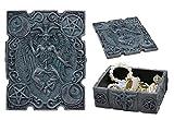 Ebros 4.5'Long Satanic Sabbatic Goat Baphomet With Crescent Moons And Pentagram Trinket Decorative Box Church Of Satan Small Jewelry Keepsake Altar Items Storage