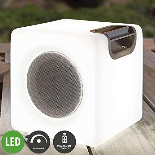 Lampenwelt LED 'Angelana' dimmbar mit Fernbedienung (Modern) in Weiß u.a. für Wohnzimmer & Esszimmer (1 flammig, A+, inkl. Leuchtmittel), Wohnzimmerlampe