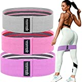 Good Vibes Only Resistance Booty Bands for Legs and Butt Exercise Bands - Non Slip Elastic Booty Bands, 3 Levels Workout Bands Women Sports Fitness Band for Squat Glute Hip Training Non Slip