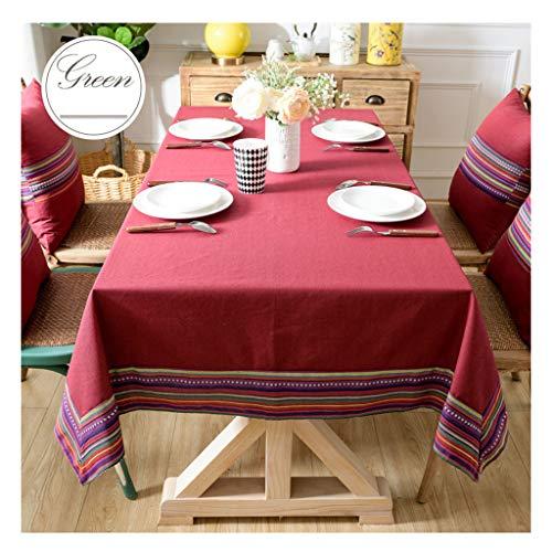 &Nappes Nappe Rectangulaire - Style Imperméable Et Anti-Chaud Nappe Rectangulaire Style Ethnique nappe de table (Couleur : D, taille : 100 * 140cm)