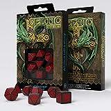 Q-Workshop Celtic Black & Red Dice Set