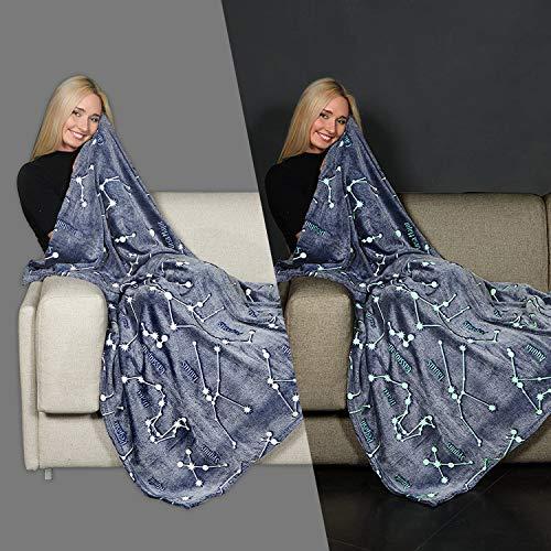 Product Image 6: Kanguru Glow in The Dark Constellation Blanket, Christmas Thanksgiving Blanket Gifts for Birthday Kids Women Girls Boy Best Friend