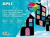 APLI 16650 - Bloc papel celofn surtido 32 x 24 cm 10 hojas