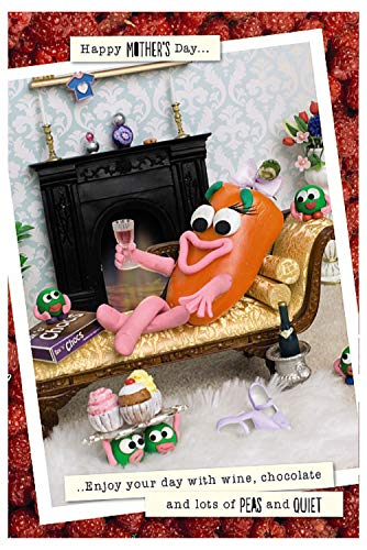 Violent Veg Muttertagskarte 'Pepper on sofa Enjoy Your Peas and Quiet'