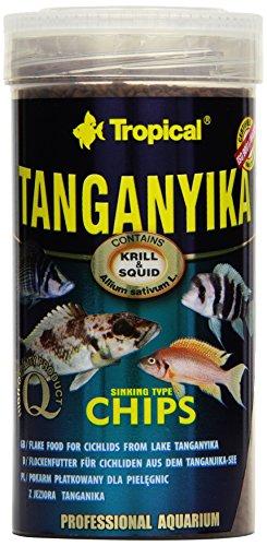 Tropical Tanganyika Chips - Zutatenreiche, sinkende Spezialfutter-Chips für große Tanganjikasee-Cichliden, 1er Pack (1 x 250 ml)