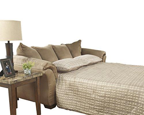 Signature Design by Ashley - Darcy Full Size Ultra Soft Upholstery Sleeper Sofa, Mocha