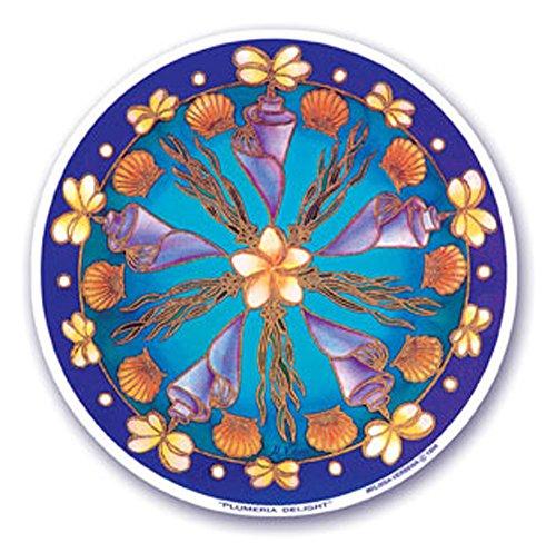 Mandala Arts Art, motif coloré mandala fenêtre image.43 cm recto-verso « delight frangipani par Byron de tous (S0)