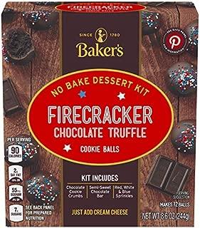 Baker's Firecracker Chocolate Truffle Cookie Balls No Bake Dessert Kit, 8.6 oz Box