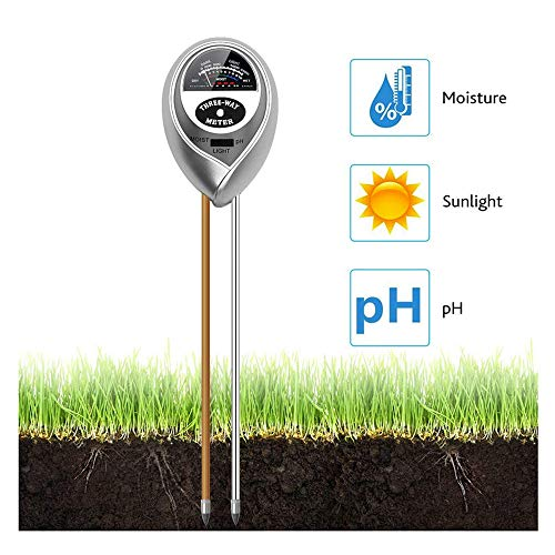 Best Review Of HTYX Soil Tester 3-in-1 ATC Analyzer Lightweight Moisture Meter Gardening Light and P...