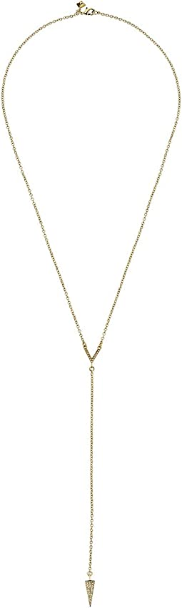 Rebecca Minkoff - Crystal Cone Y Necklace