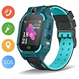 Kids Smartwatch, Enow IP67 Waterproof LBS Position Smart Phone Watch with SOS Two Way Call Game Watch Camera Alarm for Boys and Girls Birthday Gifts, Compatible Android/iOS (Green)