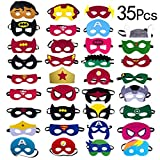 Yidaxing 35 x Superhelden Masken, Filz Masken Superhero Cosplay Party Masken Weihnachten Halloween...