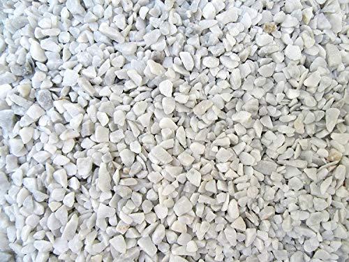 Doubleyou Geovlies & Baustoffe Piedras decorativas blancas de 6-14 mm (grava de mármol) (blanco, 1 kg)