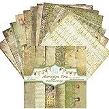 sprwater Papel Estampado patrón Bloc de de Papel para Manualidades Papel de Fondo de 6 Pulgadas con un Solo patrón Lateral para Tarjetas de álbum de recortes15 15 cm 24 Hojas Premium