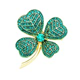 Rosemarie Collections Women's Lucky Irish Four Leaf Clover Pin Brooch (Gold...