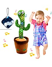 """Dancing Cactus Toy, BLUELAND Electric, Shaking, Recording, Singing, Talking toys, """"Repeat your speech"""" Plush Stuffed Gift For Toddler, Baby, Kids, age 1 2 3 4 5 6 7"""