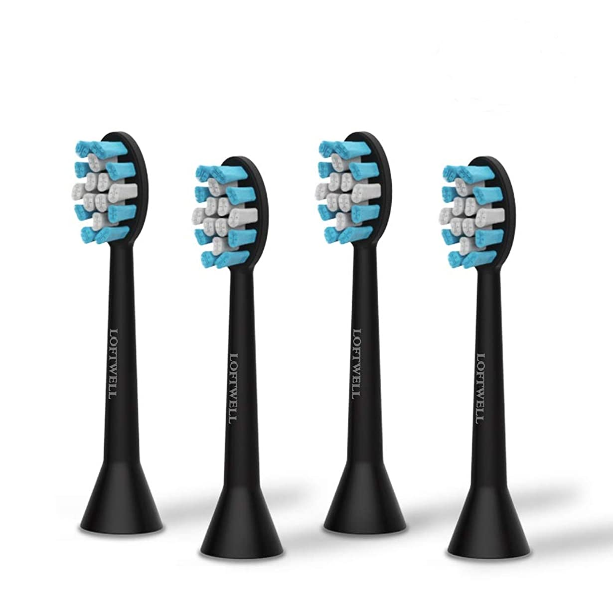 頭痛流長老loftwell 電動歯ブラシD5とD9通用替えブラシ 替えブラシ 4本入れ