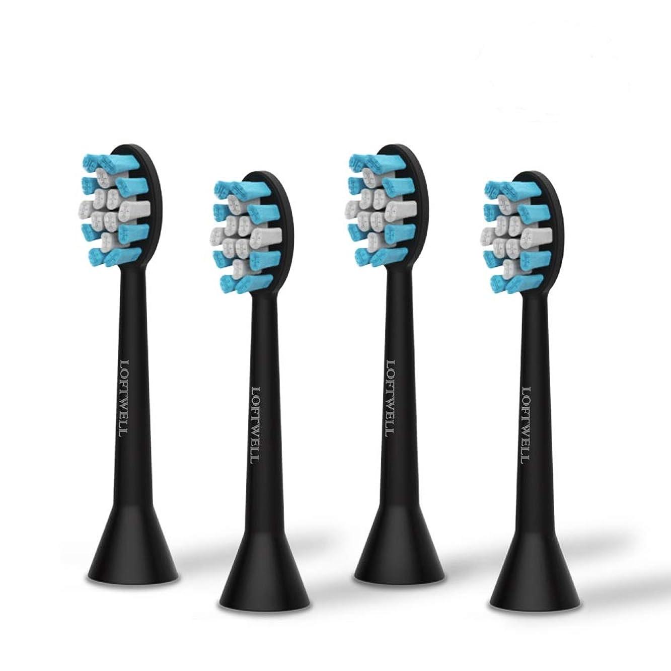 昆虫を見る残り物領収書loftwell 電動歯ブラシD5とD9通用替えブラシ 替えブラシ 4本入れ