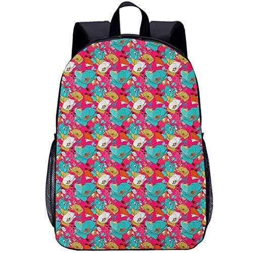 Printing Backpacks, Poppy, Kindergarten Cute Cartoon Schoolbag, 16 inch
