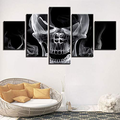 Aicedu Kunstdruk op canvas, voor nachtkastje, achtergrond, decoratie, inkstraal, kop, plafond, botten, meerkleurig, voor huis, mode, olieverfschilderij Dunhuang L-30x40 30x60 30x80cm Frame
