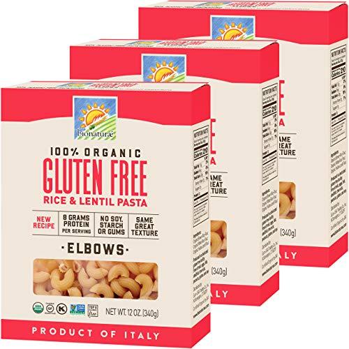 Bionaturae Elbows Organic Gluten Free Pasta   Non-GMO   Kosher   USDA Certified Organic   Made in Italy   12 oz (3 Pack)