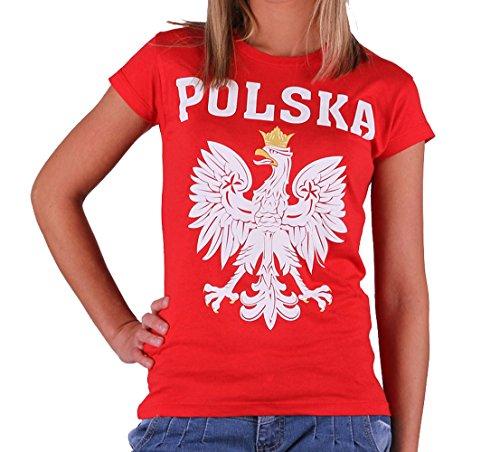 Quaint Point Polska Polen Trikot Damen T-Shirt KP6W (M)
