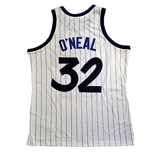 GAOJR Camiseta De Baloncesto Magic #32 Oneal | Secado Rápido Transpirable (Blanco) S