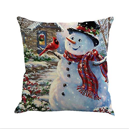 HNLHLY kussensloop voor kerstbed, comfortabel, motief: Happy jaar, verschillende maten verkrijgbaar, 2 stuks