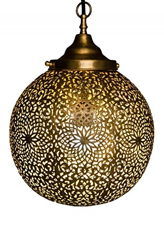 Marokkaanse Marokko messing plafondlamp lamp lamp kogellamp Maroc