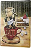Kean Espresso Cappuccino Cafe Coffee Metal Tin Sign, Vintage Plaque Poster Cafe Home Bar Wall Decor 12x8 Inch