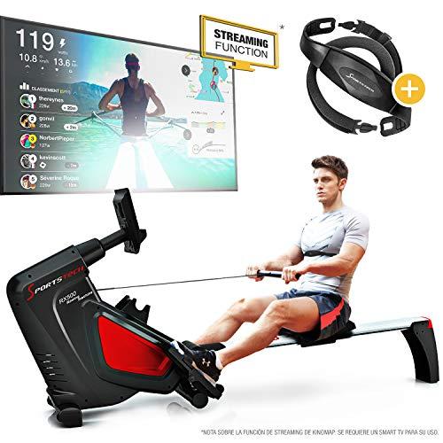 Sportstech RSX500 Máquina de Remo, Smartphone Control, App Fitness, 12...