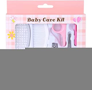 6pcs Baby Care Tools, Pink/Blue(Optional) Baby Grooming Kit, for Nursing Baby Heath and Grooming(Pink)
