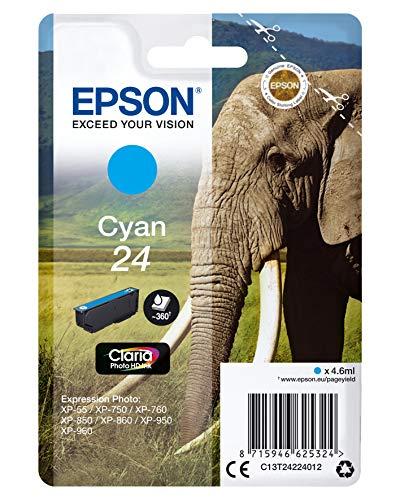 Epson C13T24224022 Cyan Original Tintenpatronen Pack Of 1