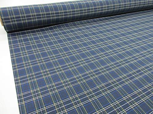 Confección Saymi Metraje 2,45 MTS Tejido Cuadros Ref. Irlanda Color Azul, con Ancho 2,80 MTS.