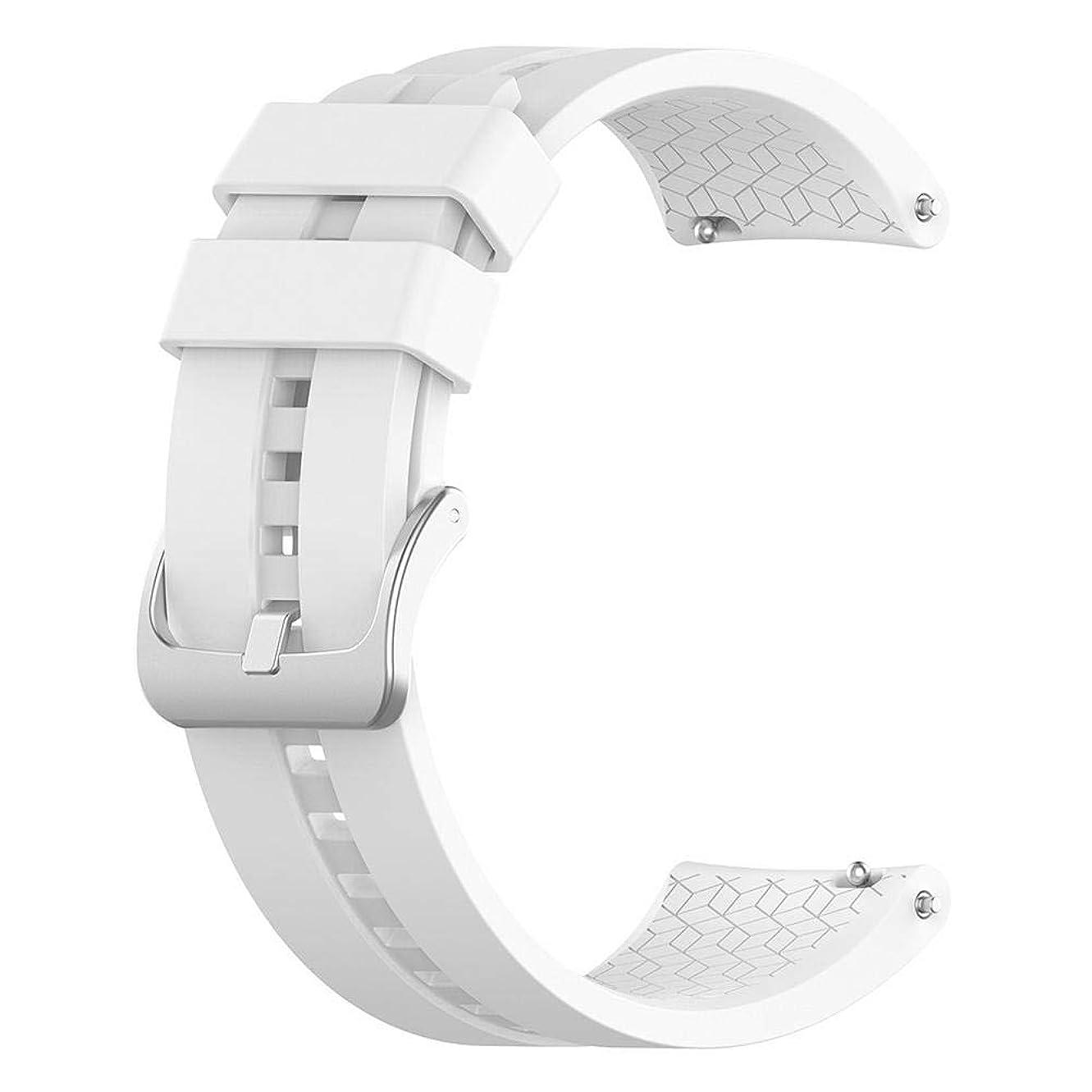 文化リゾートトレーダーcasualcatch スマートウォッチバンド ファーウェイ Huawei Watch GT Elegant 42mm対応 交換用ベルト 時計バンド ホワイト