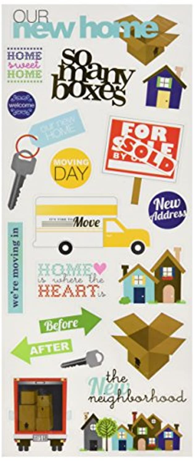 Me & My Big Ideas Specialty Stickers, Our New Home