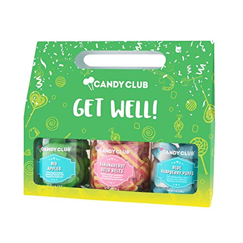 Candy Club, Get Well! Candies Gift Pack, 3 Jars Set - BananaBerry Sour...