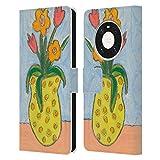 Head Case Designs Offiziell Zugelassen Wyanne Kleine Vase Und Blumen Natur Leder Brieftaschen Handyhülle Hülle Huelle kompatibel mit Huawei Mate 40 Pro 5G