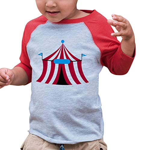 7 ate 9 Apparel Boy's Novelty Circus Vintage Baseball Tee 4T Red