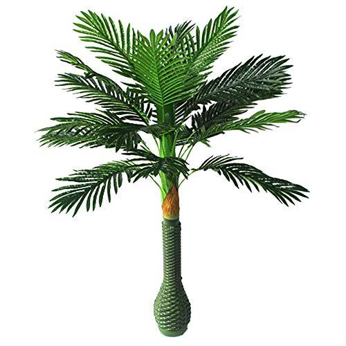 Youz Künstliche Palme mit großen grünen Blättern aus Seide 3.3Feet grün